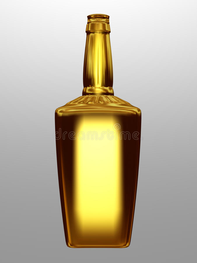 μπουκάλι χρυσό διανυσματική απεικόνιση