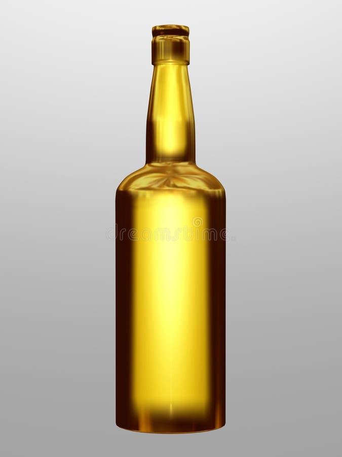 μπουκάλι χρυσό απεικόνιση αποθεμάτων