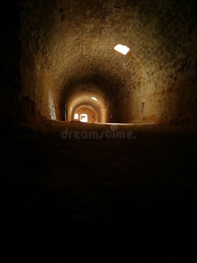 Μπουντρούμια στο φρούριο στην Κρήτη στοκ εικόνες