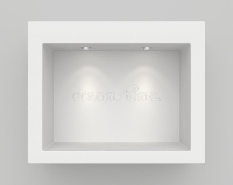 Μπουτίκ στον τοίχο με τις πηγές φωτός στοκ φωτογραφία με δικαίωμα ελεύθερης χρήσης