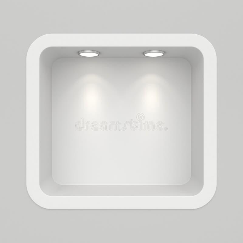 Μπουτίκ στο τοπ τοίχο με τις πηγές φωτός στοκ εικόνες