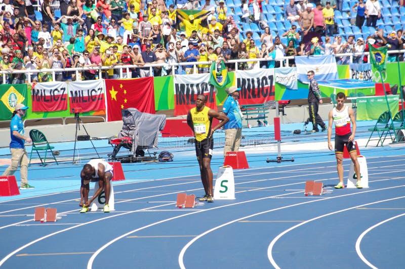Μπουλόνι Usain στους Ολυμπιακούς Αγώνες Rio2016 στοκ φωτογραφίες με δικαίωμα ελεύθερης χρήσης