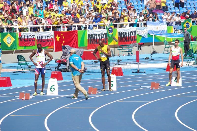 Μπουλόνι Usain στους Ολυμπιακούς Αγώνες Rio2016 στοκ εικόνες