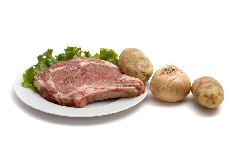 Download μπριζόλα πατατών άψητη στοκ εικόνες. εικόνα από άψητος - 13190292