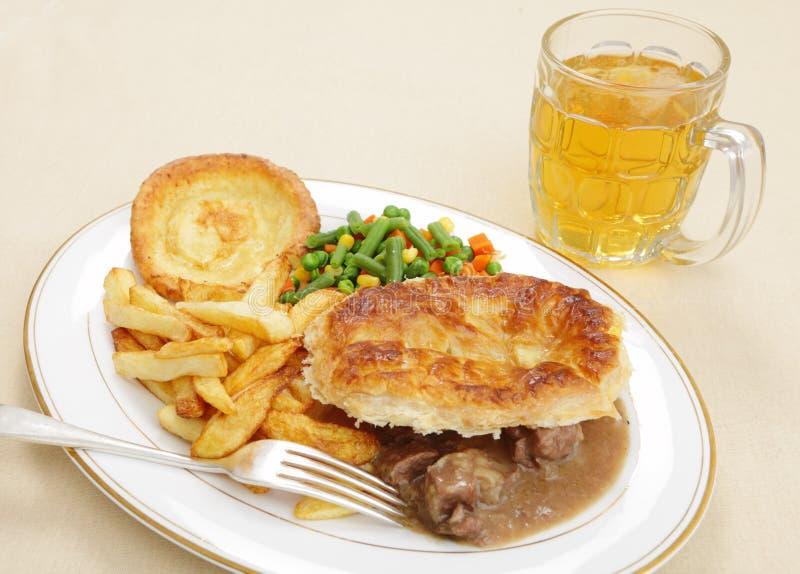 μπριζόλα πιτών γεύματος νεφρών στοκ φωτογραφία με δικαίωμα ελεύθερης χρήσης