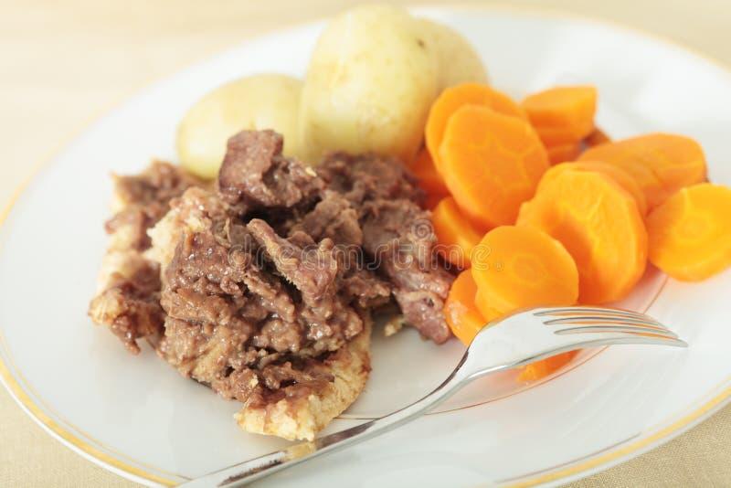 μπριζόλα πουτίγκας γεύμα&t στοκ εικόνες με δικαίωμα ελεύθερης χρήσης