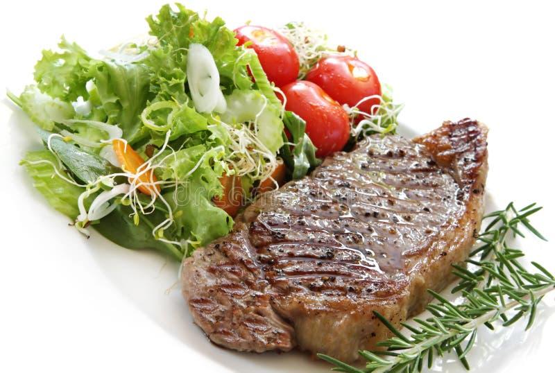 μπριζόλα σαλάτας στοκ φωτογραφία με δικαίωμα ελεύθερης χρήσης