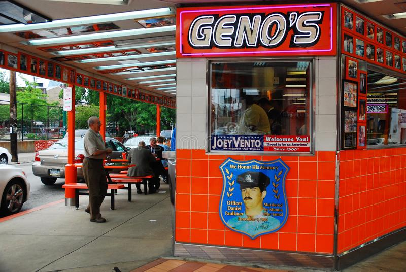 Μπριζόλες Genos, Φιλαδέλφεια στοκ εικόνα