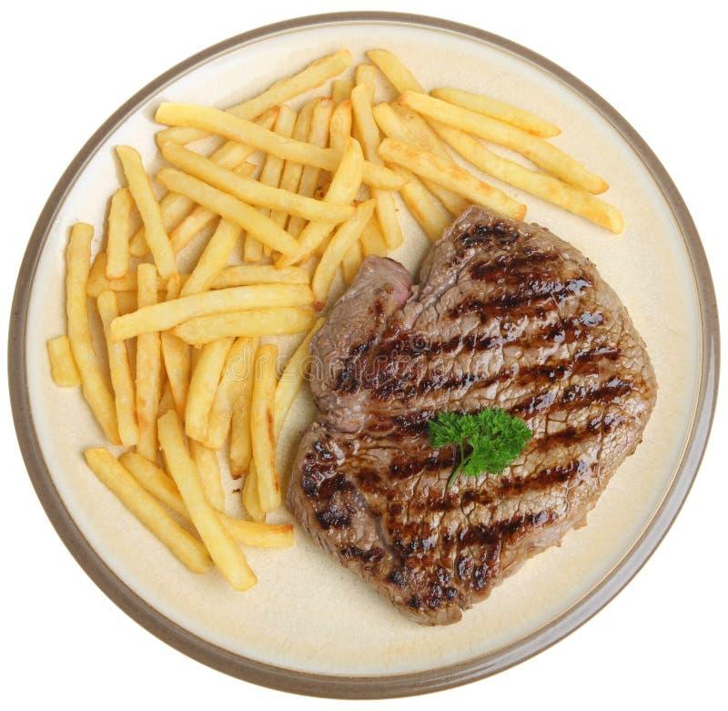 Μπριζόλα και τηγανητά γλουτών στοκ φωτογραφία με δικαίωμα ελεύθερης χρήσης