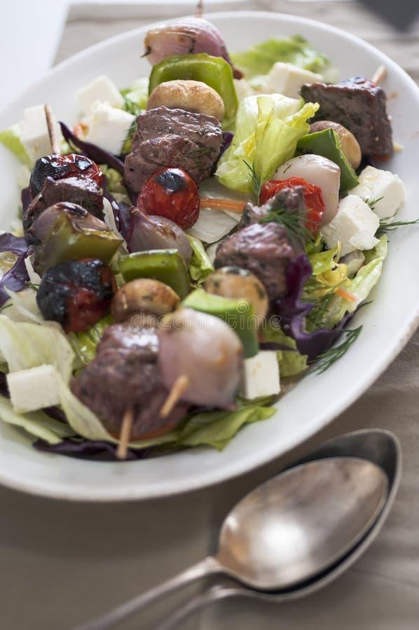 Μπριζόλα kebabs στοκ φωτογραφίες με δικαίωμα ελεύθερης χρήσης