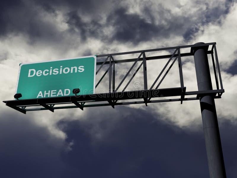 μπροστά αποφάσεις ελεύθερη απεικόνιση δικαιώματος