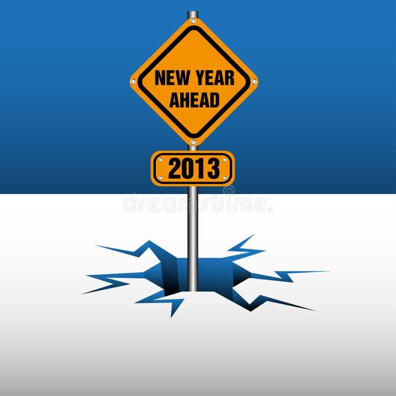 μπροστά νέο έτος πιάτων ελεύθερη απεικόνιση δικαιώματος