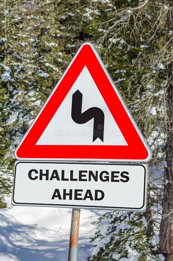 μπροστά προκλήσεις στοκ εικόνα