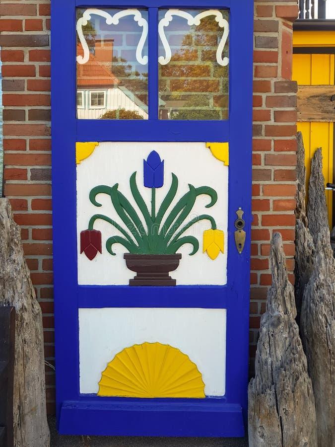 Μπροστινές πόρτες Darßerhistorische σε Fischland στοκ εικόνες με δικαίωμα ελεύθερης χρήσης