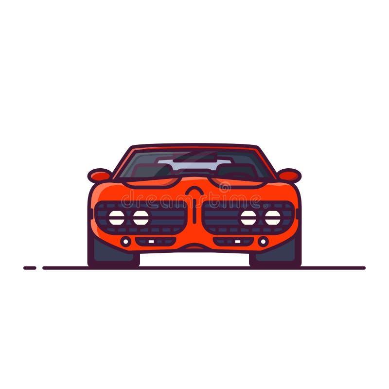 Μπροστινή άποψη αυτοκινήτων μυών διανυσματική απεικόνιση