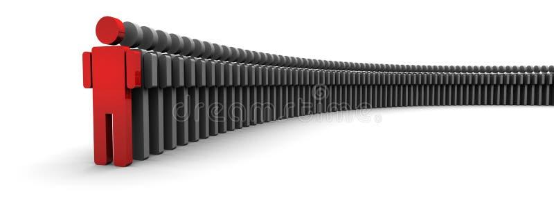 μπροστινή γραμμή ένα εικονι& διανυσματική απεικόνιση