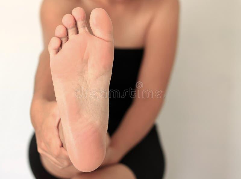 Μπροστινή γυναίκα ποδιών στοκ φωτογραφία