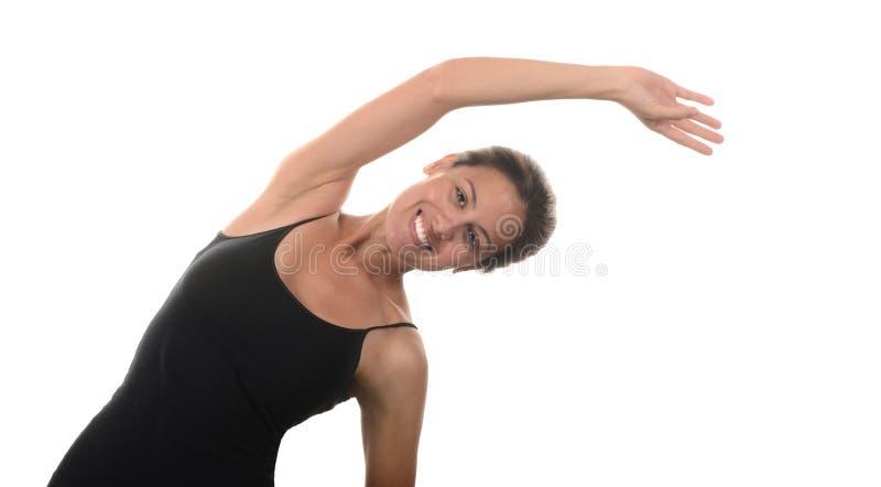 μπροστινή γυναίκα τεντώματος χεριών ο εστίασης προσώπου δ φ έξω ρηχή στοκ εικόνες με δικαίωμα ελεύθερης χρήσης