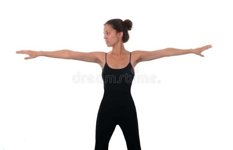 μπροστινή γυναίκα τεντώματος χεριών ο εστίασης προσώπου δ φ έξω ρηχή στοκ φωτογραφία με δικαίωμα ελεύθερης χρήσης