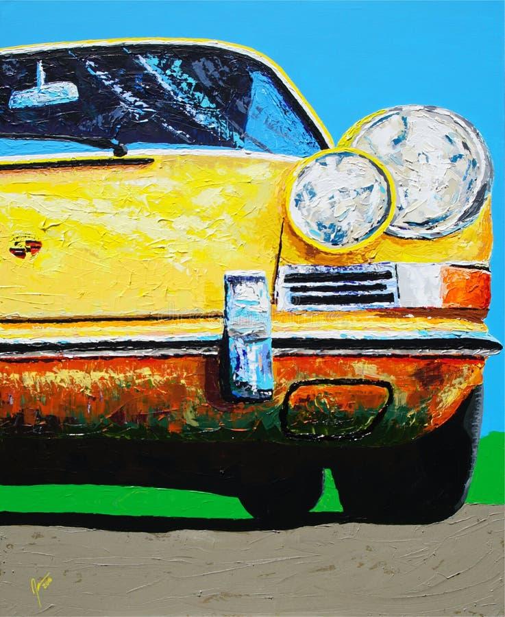 Μπροστινή ζωγραφική μύτης της Porsche στοκ εικόνα
