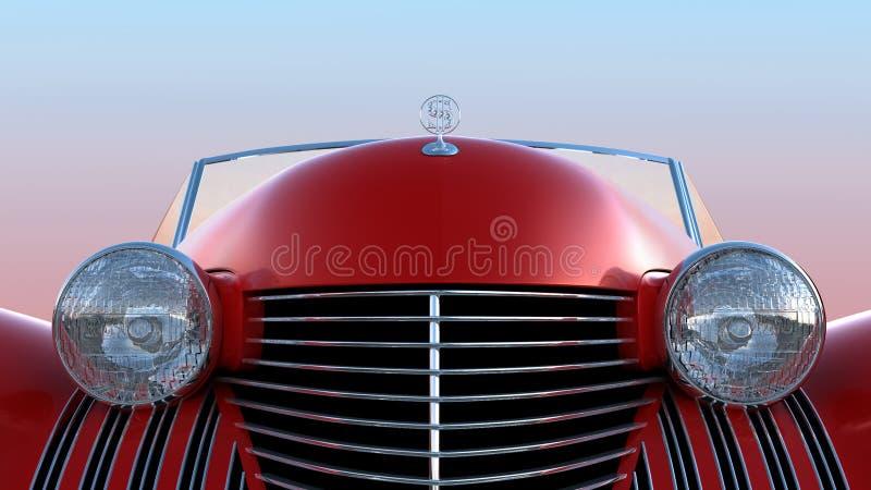 μπροστινή κόκκινη αναδρομ&io ελεύθερη απεικόνιση δικαιώματος