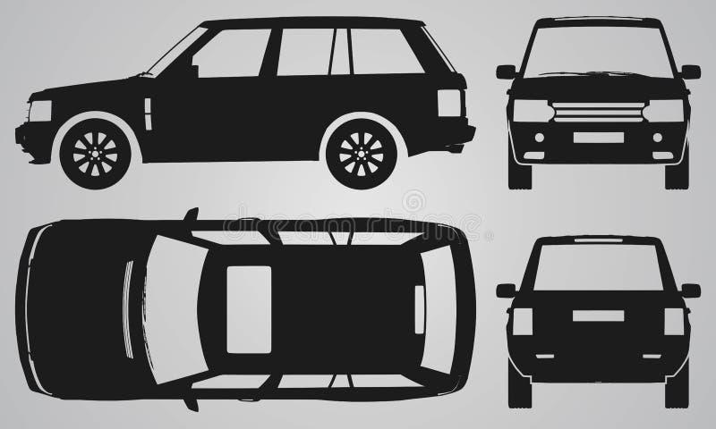 Μπροστινή, πίσω, τοπ και δευτερεύουσα προβολή SUV στοκ φωτογραφία με δικαίωμα ελεύθερης χρήσης