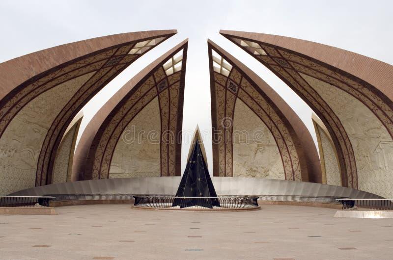 Μπροστινή πλευρά μνημείων του Πακιστάν στοκ φωτογραφίες