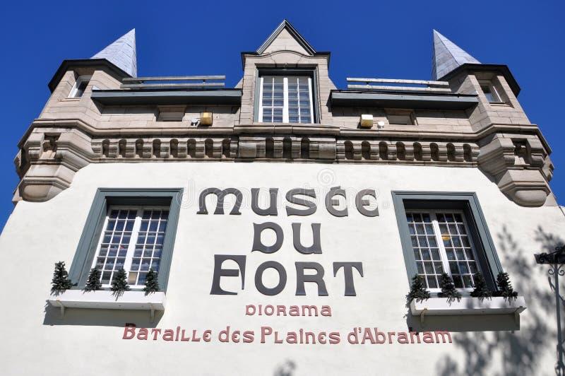 Μουσείο του οχυρού στην παλαιά πόλη του Κεμπέκ στοκ φωτογραφίες με δικαίωμα ελεύθερης χρήσης