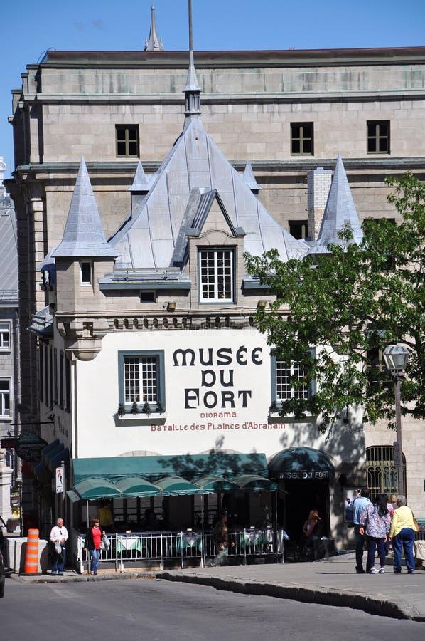 Μουσείο του οχυρού στην παλαιά πόλη του Κεμπέκ στοκ φωτογραφία με δικαίωμα ελεύθερης χρήσης