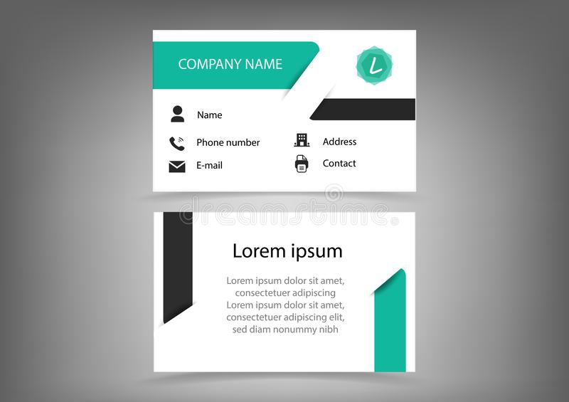 , Μπροστινού και πίσω σχέδιο επαγγελματικών καρτών, καρτών ονόματος, σύγχρονος δημιουργικός με το infographic λεπτομέρειας διανυσ διανυσματική απεικόνιση