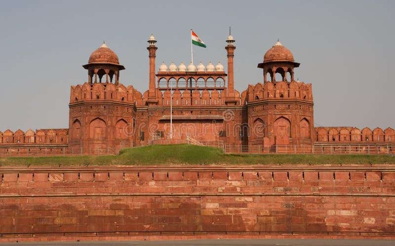μπροστινό κόκκινο της Ινδίας πυλών οχυρών του Δελχί lahore στοκ φωτογραφίες με δικαίωμα ελεύθερης χρήσης