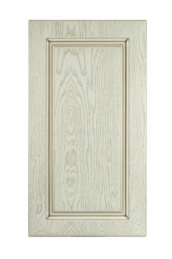 Μπροστινό ξύλινο πλαίσιο κουζινών που απομονώνεται στο λευκό στοκ εικόνα με δικαίωμα ελεύθερης χρήσης