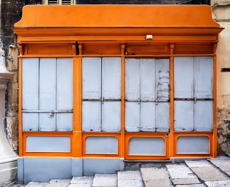 μπροστινό παλαιό κατάστημα στοκ εικόνα