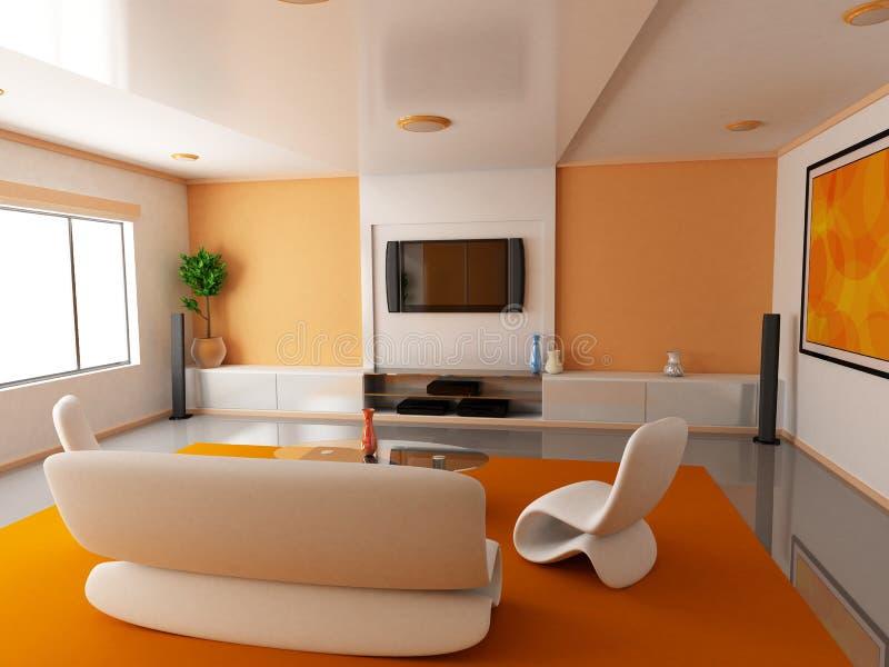 μπροστινό πορτοκαλί δωμάτ&io διανυσματική απεικόνιση