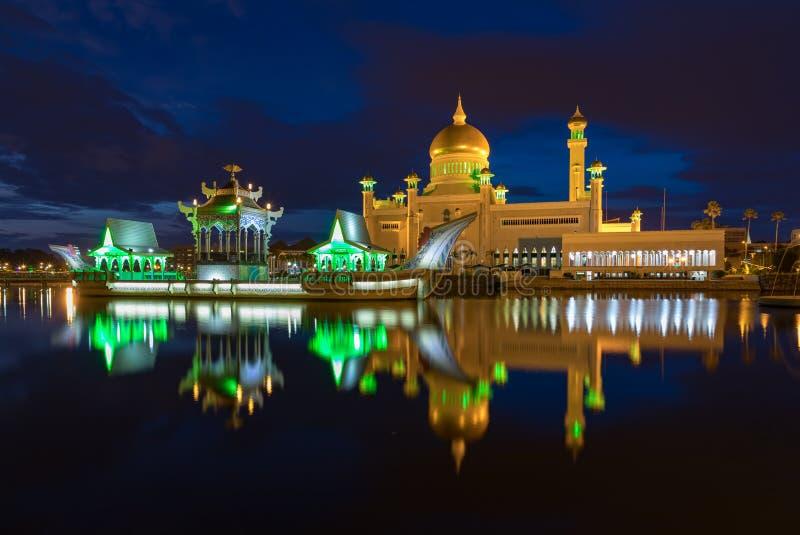 Μπρουνέι Darussalam, Bandar Seri Begawan στοκ εικόνες
