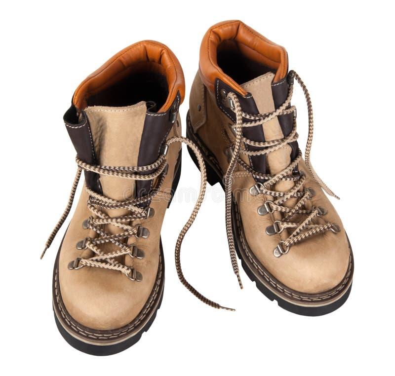 μπότες ανασκόπησης που το απομονωμένο λευκό ζευγαριού στοκ φωτογραφία με δικαίωμα ελεύθερης χρήσης