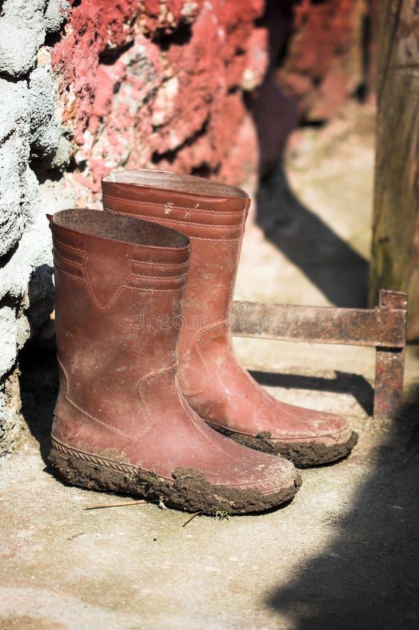 μπότες Ουέλλινγκτον στοκ εικόνες