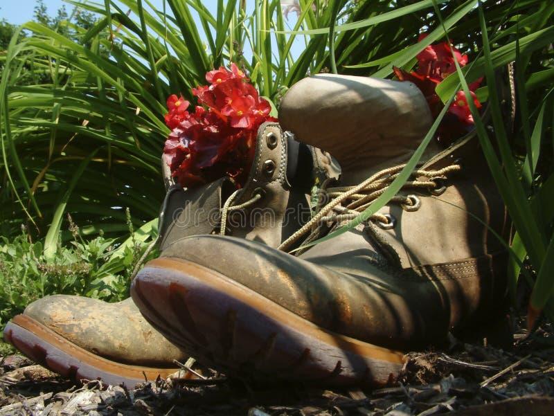μπότες που αποσύρονται Στοκ Εικόνα