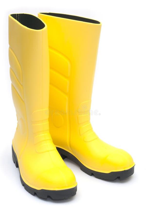 Μπότες του Ουέλλινγκτον Yellowi στοκ εικόνες με δικαίωμα ελεύθερης χρήσης