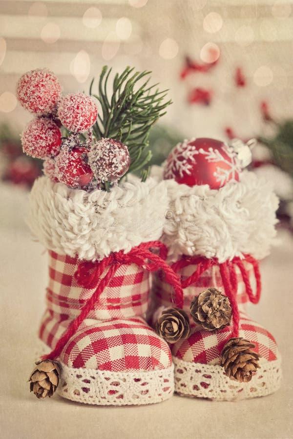 Μπότες Χριστουγέννων στοκ εικόνες με δικαίωμα ελεύθερης χρήσης