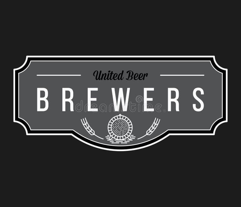 Μπύρα από το λευκό ζυθοποιών στο Μαύρο διανυσματική απεικόνιση