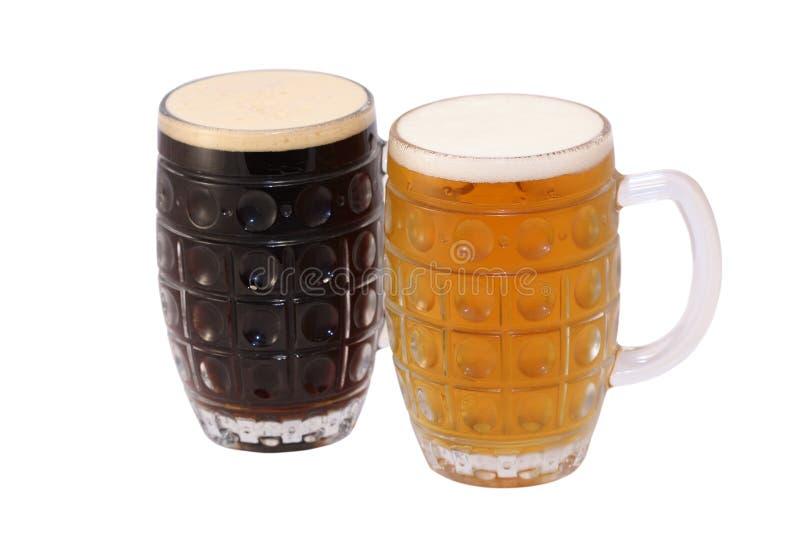 μπύρα δύο στοκ φωτογραφίες με δικαίωμα ελεύθερης χρήσης