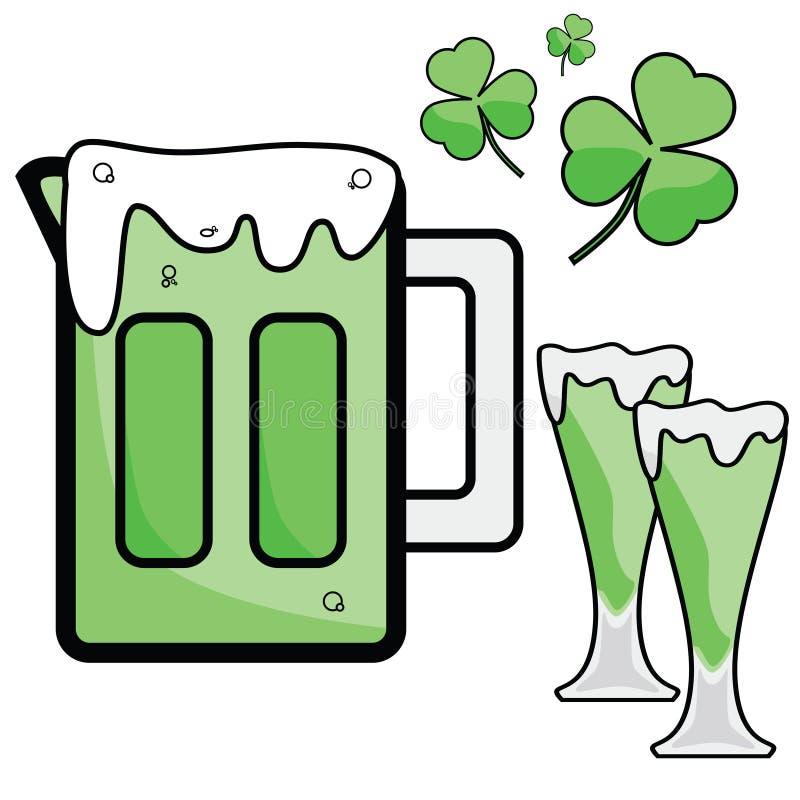 μπύρα ημέρα Πάτρικ s ST απεικόνιση αποθεμάτων