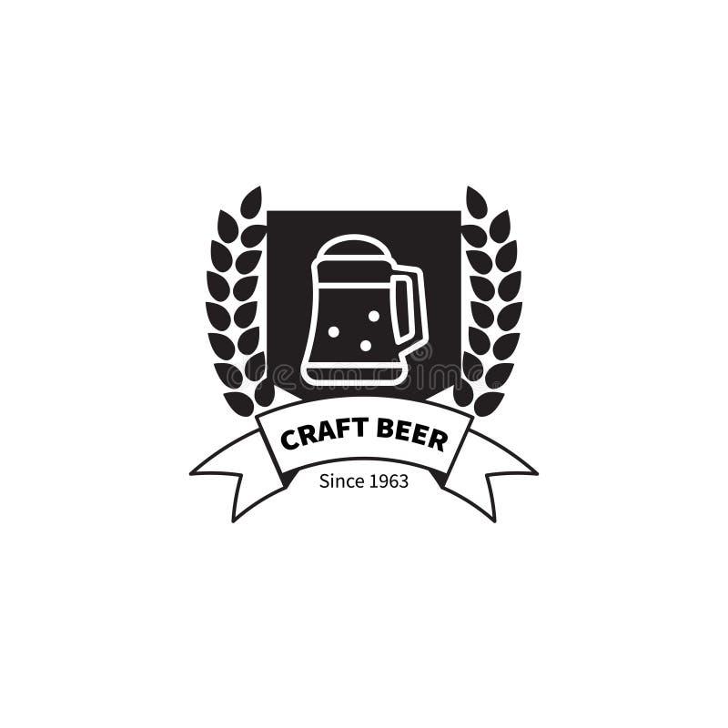 Μπύρα τεχνών γραμματοσήμων διανυσματική απεικόνιση