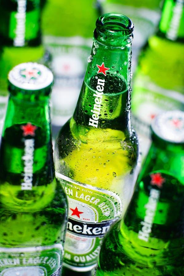 Μπύρα της Heineken στοκ φωτογραφία με δικαίωμα ελεύθερης χρήσης