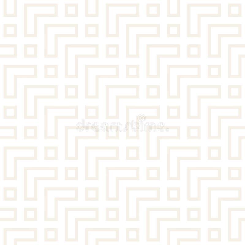 Μπλεγμένος λαβύρινθος σύγχρονος γραφικός γραμμών Αφηρημένο γεωμετρικό σχέδιο υποβάθρου άνευ ραφής διάνυσμα προτύπων απεικόνιση αποθεμάτων