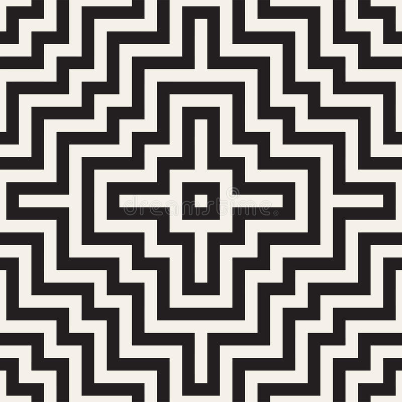 Μπλεγμένος λαβύρινθος σύγχρονος γραφικός γραμμών Αφηρημένο γεωμετρικό σχέδιο υποβάθρου άνευ ραφής διάνυσμα προτύπων διανυσματική απεικόνιση