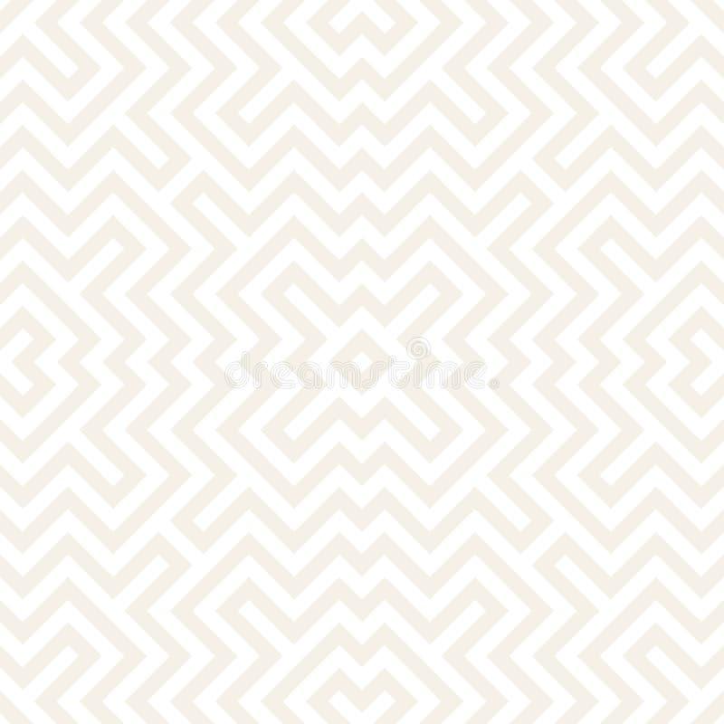 Μπλεγμένος λαβύρινθος σύγχρονος γραφικός γραμμών Αφηρημένο γεωμετρικό σχέδιο υποβάθρου άνευ ραφής διάνυσμα προτύπων ελεύθερη απεικόνιση δικαιώματος