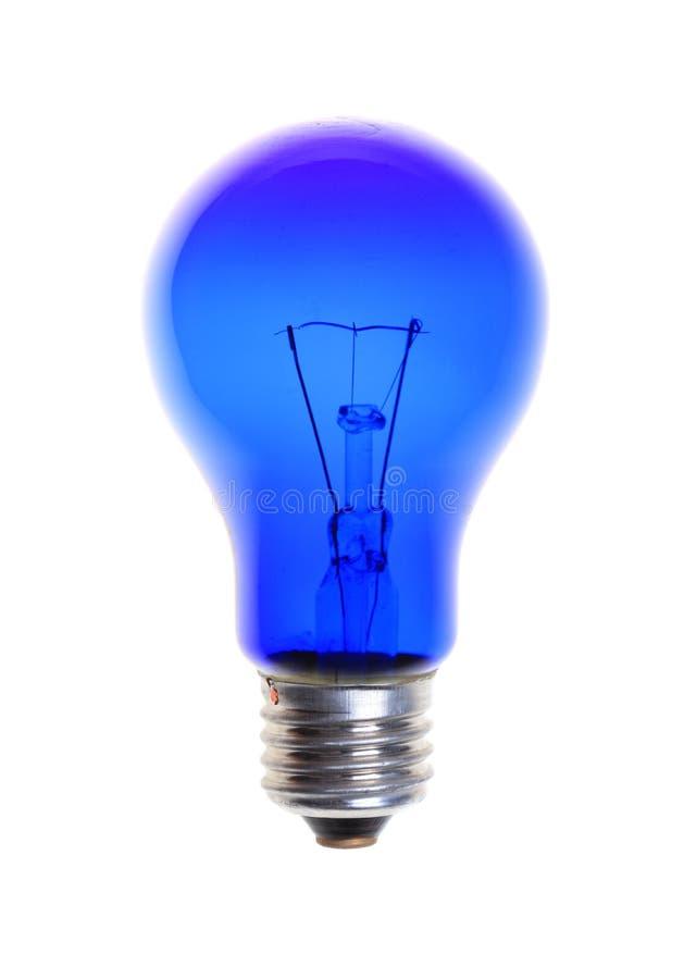 Μπλε λάμπα φωτός που απομονώνεται στο άσπρο υπόβαθρο στοκ εικόνα