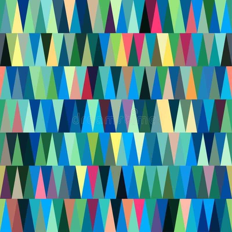 Μπλε άνευ ραφής αφηρημένο υπόβαθρο τριγώνων ελεύθερη απεικόνιση δικαιώματος